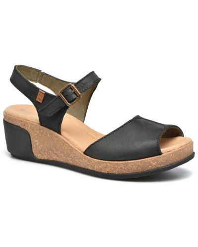 El Naturalista Damen Leaves N5000 Sandalen in schwarz