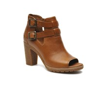 Earthkeepers Glancy Peep Toe Stiefeletten & Boots in braun
