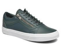Old Skool Zip Sneaker in grün