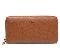 Zip Around Wallet Portemonnaies & Clutches in braun