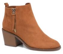 Bianca zip heeled bootie Stiefeletten & Boots in braun