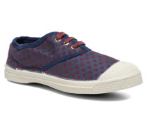 Tennis Pois Jacquard E Sneaker in blau