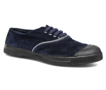 Tennis Suedpiping F Sneaker in blau
