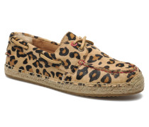 Corris Calf Hair Leopard Slipper in braun