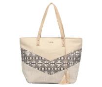 Cabas mix matière Handtaschen für Taschen in beige
