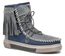 Ymiz M frange Stiefeletten & Boots in blau