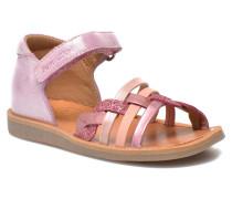 Poppy Tresse Sandalen in rosa