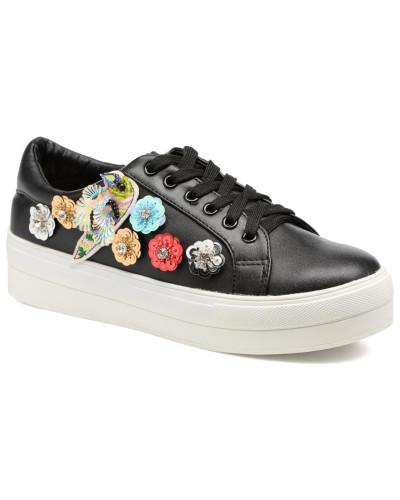 Molly Bracken Damen Flower Sneakers Sneaker in schwarz Für Schönen Günstigen Preis CG8LX