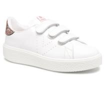 Deportivo Piel Velcros Sneaker in rosa
