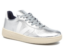 V10 LEATHER Sneaker in silber