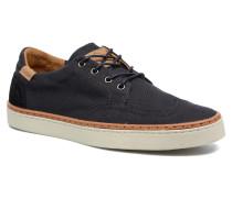 Flare Sneaker in blau
