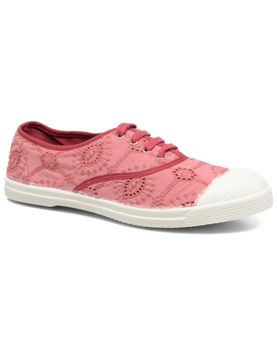 Tennis Broderie Anglaise Sneaker in rosa