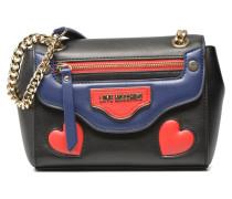 Love zip shoulder bag Handtaschen für Taschen in schwarz