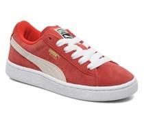 Suede Jr. Sneaker in rot