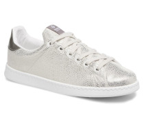 Deportivo Tejido Fantasia Sneaker in silber