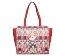 Cabas imprimé Poupées Handtaschen für Taschen in rot