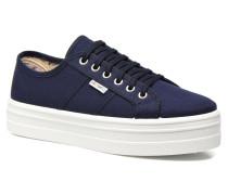 Basket Lona Plataforma Sneaker in blau