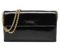Pochette Chaine Vernis Envelope Clutch Tulip Handtaschen für Taschen in schwarz