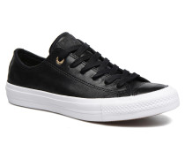 Chuck Taylor All Star II Ox Craft Leather Sneaker in schwarz