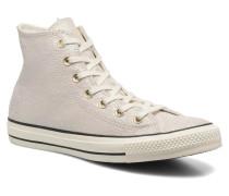 Chuck Taylor All Star Hi Oil Slick Leather W Sneaker in beige