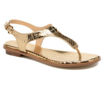 MK Plate Thong Sandalen in goldinbronze