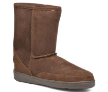 Short Sheepskin Pug Boot W Stiefeletten & Boots in braun