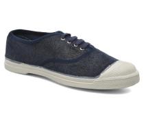 Tennis Lacets Shinny Sneaker in blau