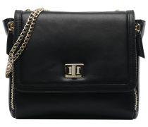 Trapeze Leather Crossover Handtaschen für Taschen in schwarz