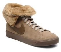 Wmns Blazer High Roll Lth Sneaker in beige