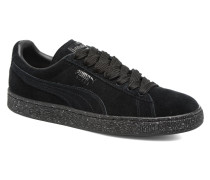 Suede Mono Spkl Sneaker in schwarz