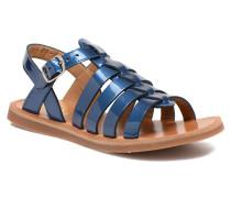 Plagette Strap Sandalen in blau