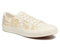 One Star Wordmark Ox Sneaker in weiß