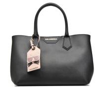 Klassic Lady Shopper Handtaschen für Taschen in schwarz
