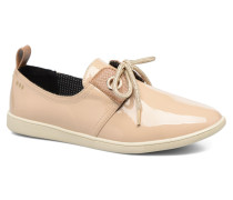 Stone patent Sneaker in beige