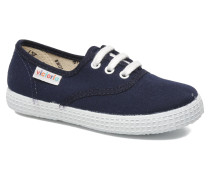 Inglesa Lona Sneaker in blau