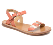 Plagette Twist Sandalen in orange