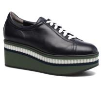 Lasket Sneaker in schwarz