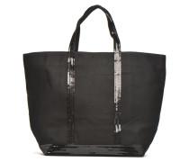 Cabas paillettes toile Porté épaule M+ Handtaschen für Taschen in schwarz