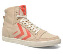 Ten Star Smooth Hi Sneaker in beige