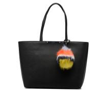 Britta Tote Zippé Handtasche in schwarz