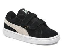 Suede 2 Straps Kids. Sneaker in schwarz