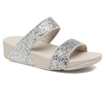 Glitterball Slide Clogs & Pantoletten in silber