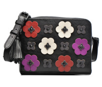 Floral Applique Camera bag Handtasche in schwarz