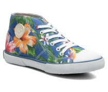 Little Basket Flowers Sneaker in blau
