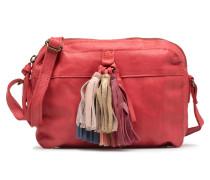 Izza Leather Crossbody Handtasche in rot