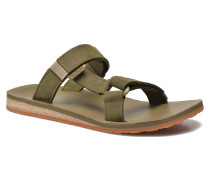 Universal Slide Leather Sandalen in grün