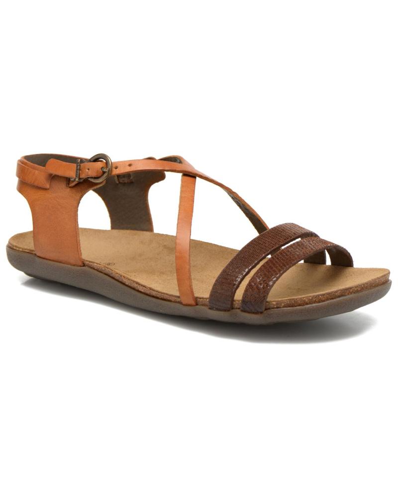 kickers damen kickers atomium sandalen f r damen braun reduziert. Black Bedroom Furniture Sets. Home Design Ideas