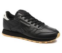 Cl Lthr Met Sneaker in schwarz
