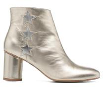 90's Girls Gang Boots #5 Stiefeletten & in silber