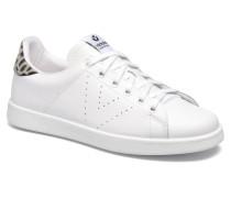 Deportivo Basket Piel Sneaker in weiß